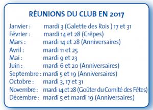 calendrier club 3e age