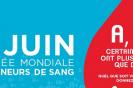 Journée mondiale des donneurs de sang jeudi 14 juin 2018